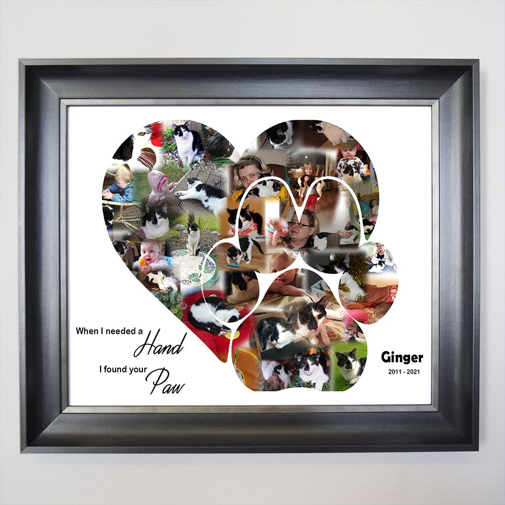 Woof Paw Framed Photo Collage