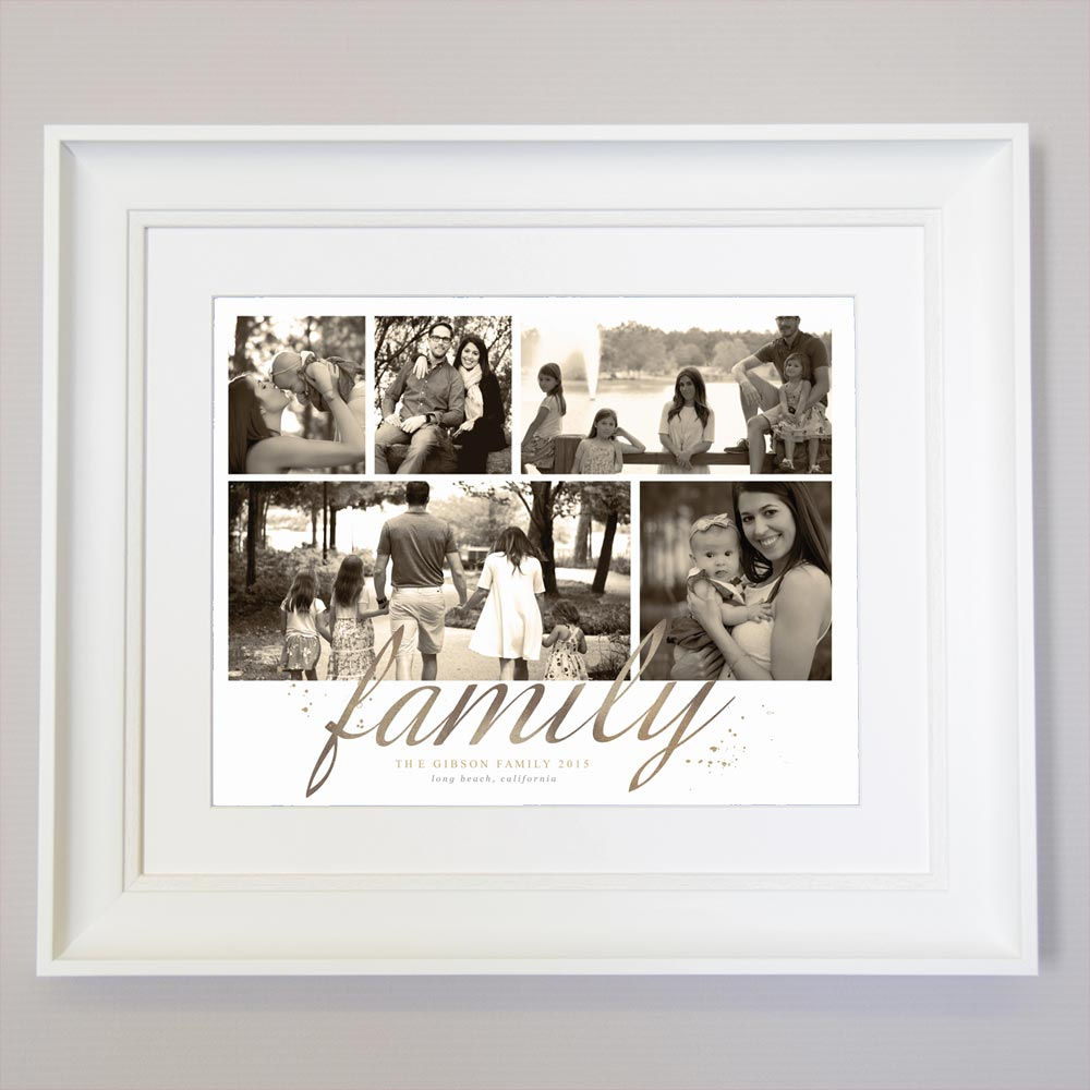 Just Family Photo Collage Wall Art - Do More With Your Pictures