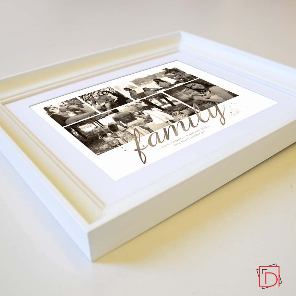 Personalised Precious Family Memories  Sentiment Gift Frame