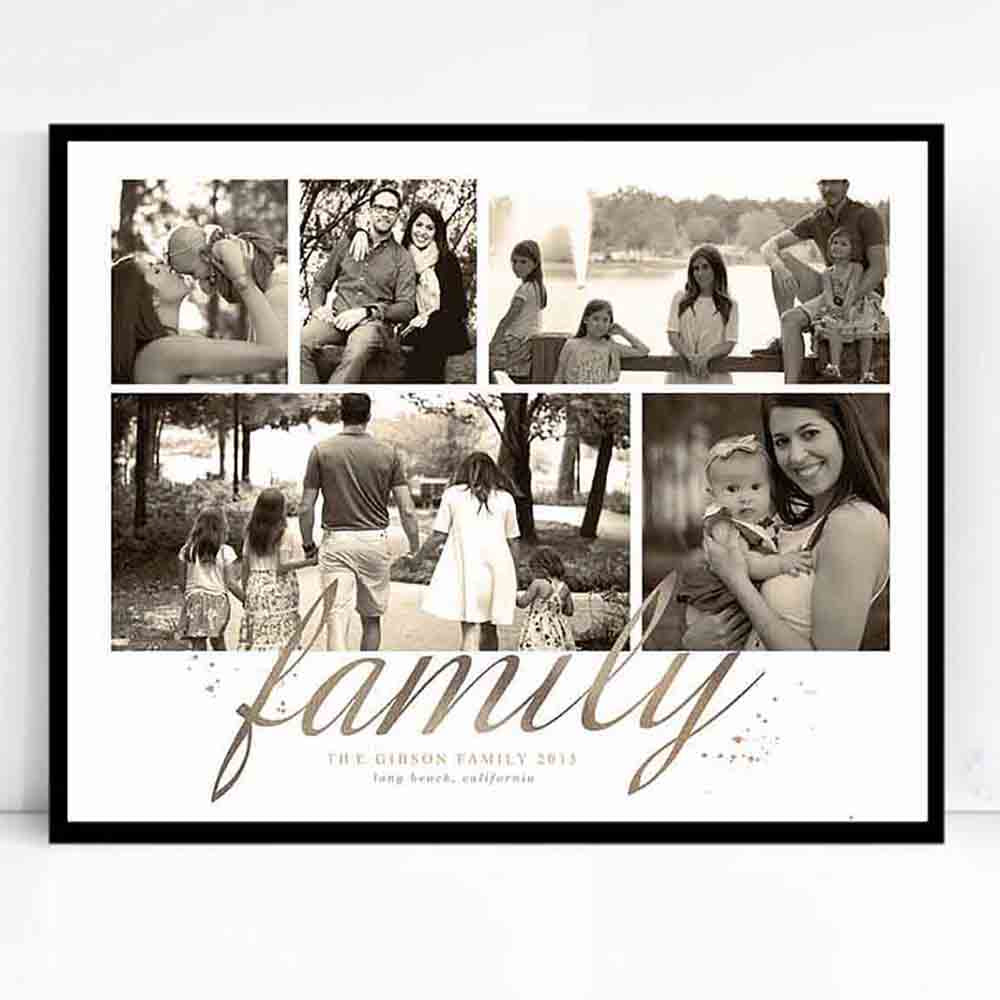 Just Family Photo Collage Wall Art