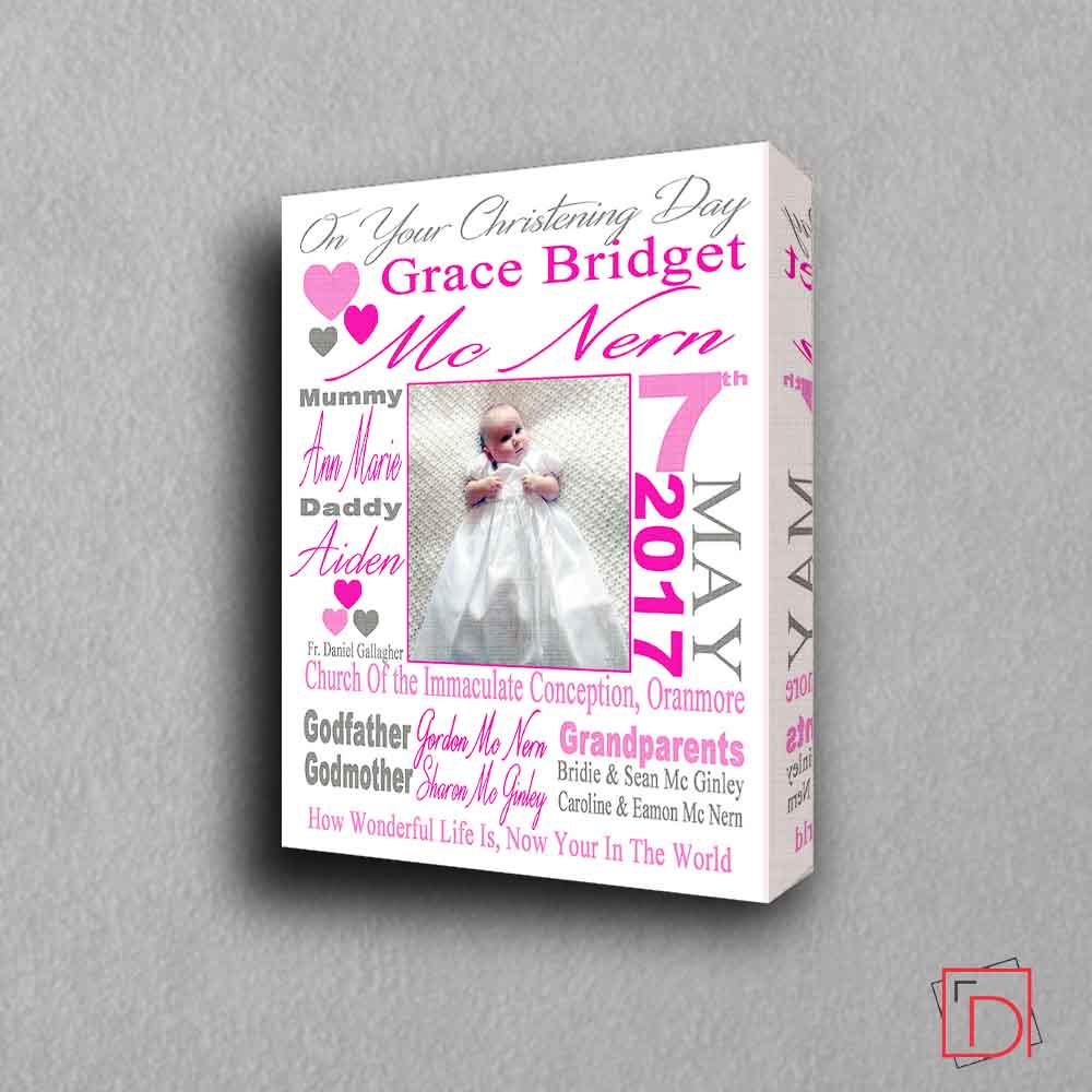 On Your Christening Day Sentiment Gift Frame