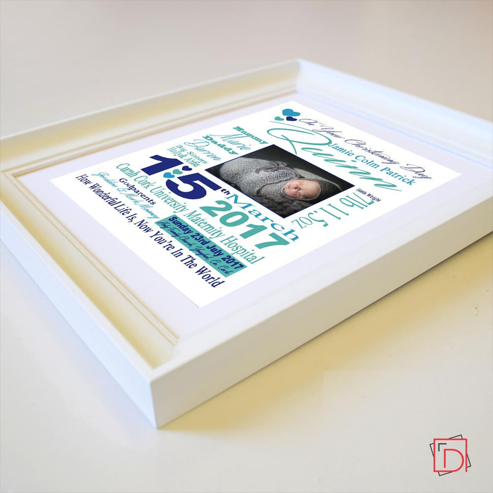 Christening Day Sentiment Gift Frame