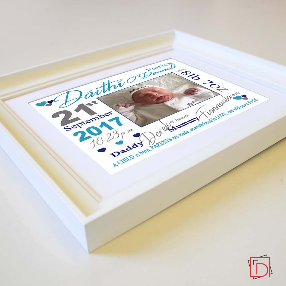 Child Is Born Sentiment Gift Frame - Do More With Your Pictures