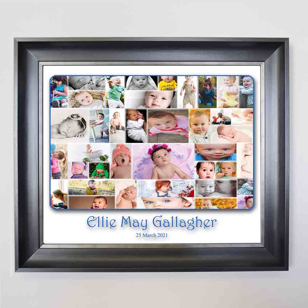 First Baby Merger Framed Photo Collage