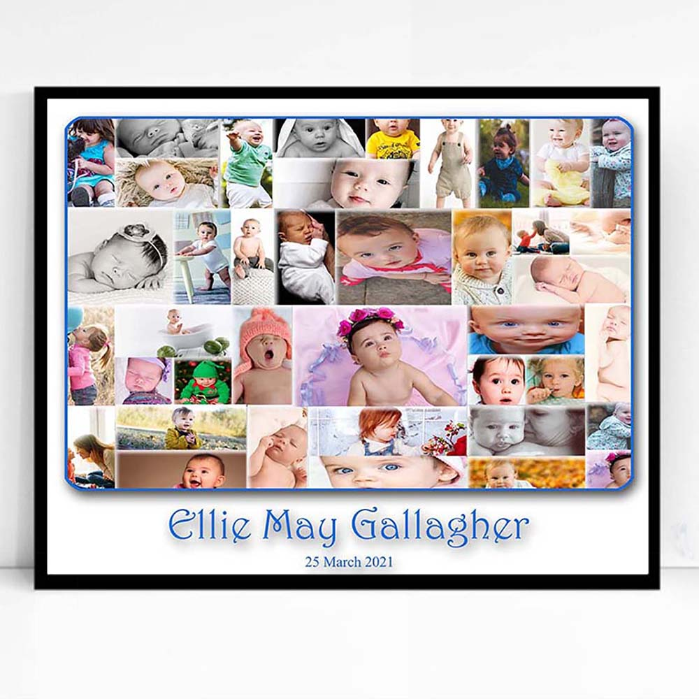 First Baby Merger Framed Photo Collage - Do More With Your Pictures