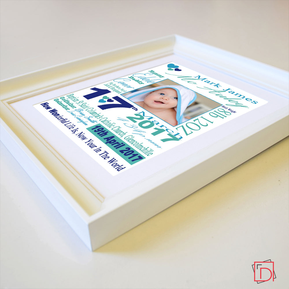 Welcome Little One Sentiment Gift Frame