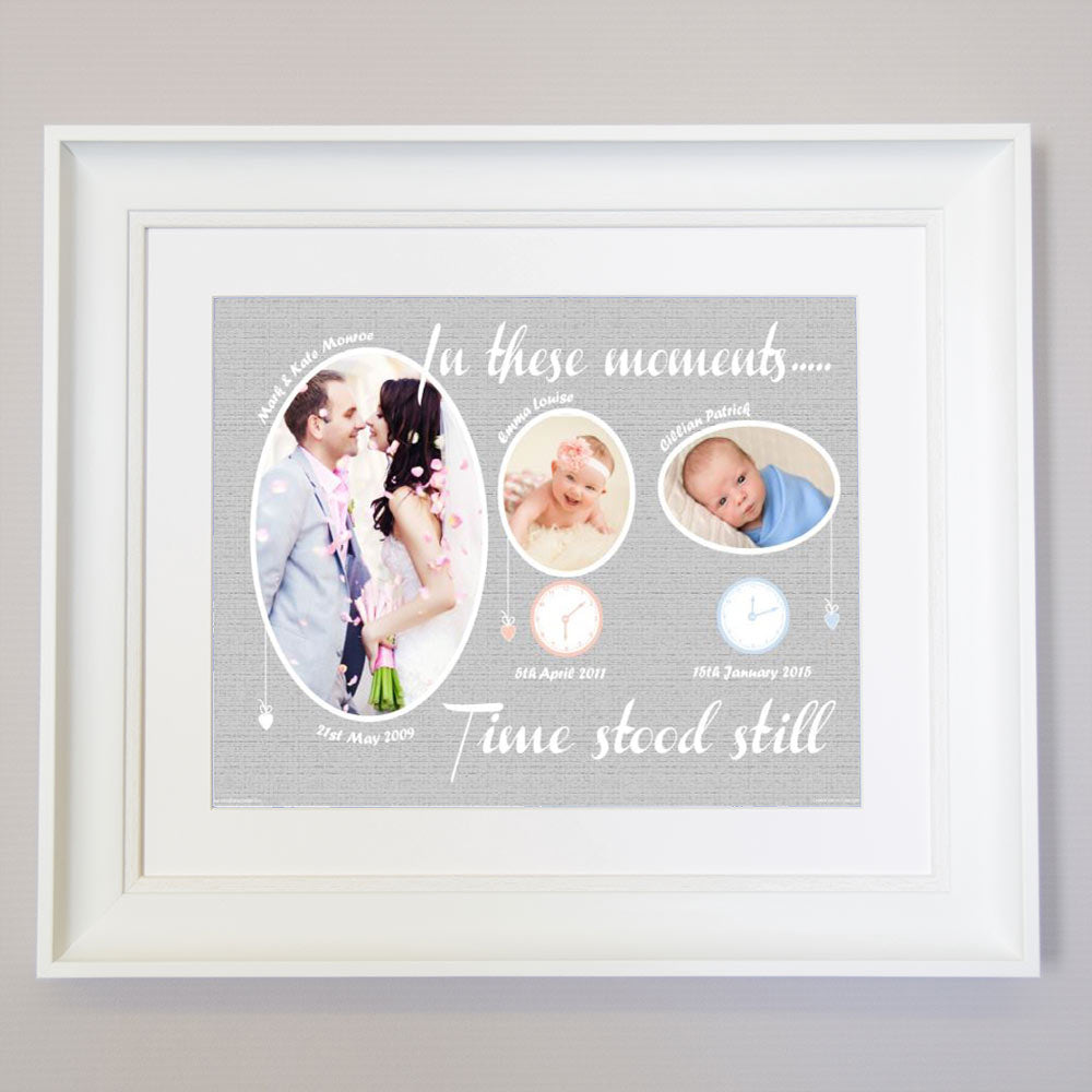 In These Moments Time Stood Still Little Clock Wall Art - Do More With Your Pictures
