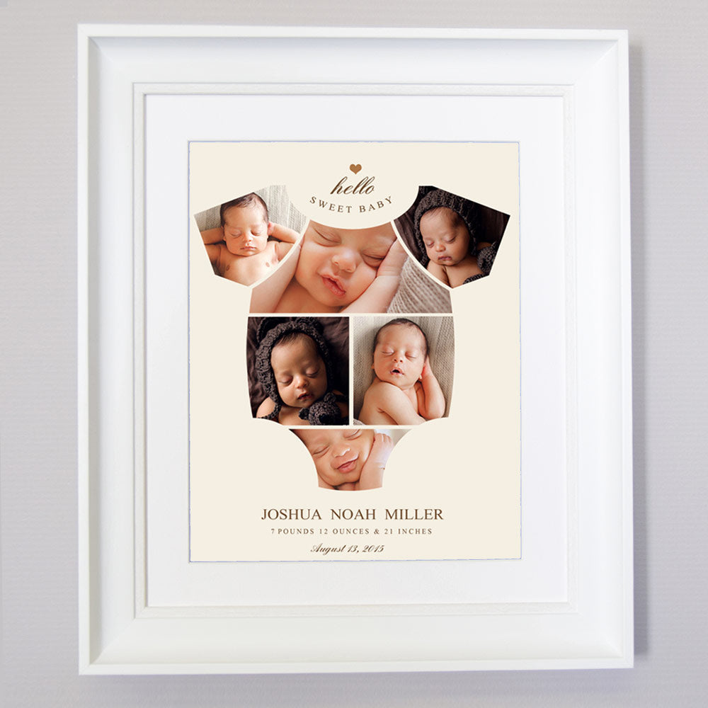 Onesie New Born Photo Collage Wall Art