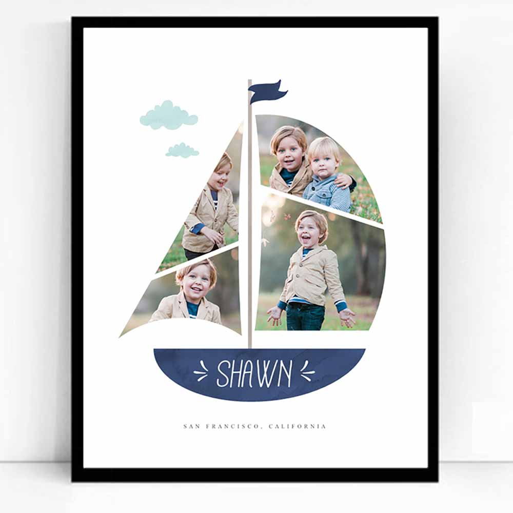 White Smoke We Are Sailing Framed Photo Collage