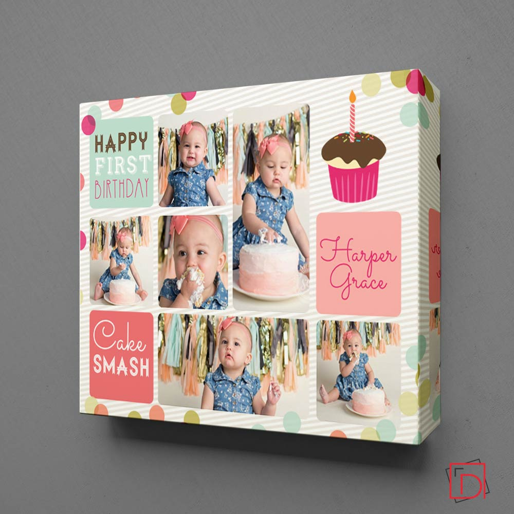 Little Pink Polka Dot Photo Collage
