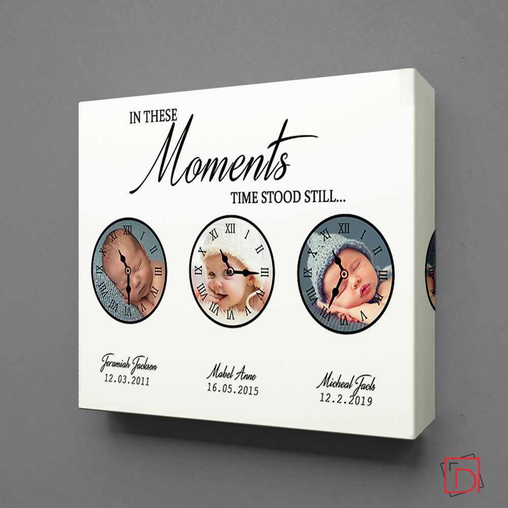 In These Moments Time Stood Still Round Wall Art - Do More With Your Pictures