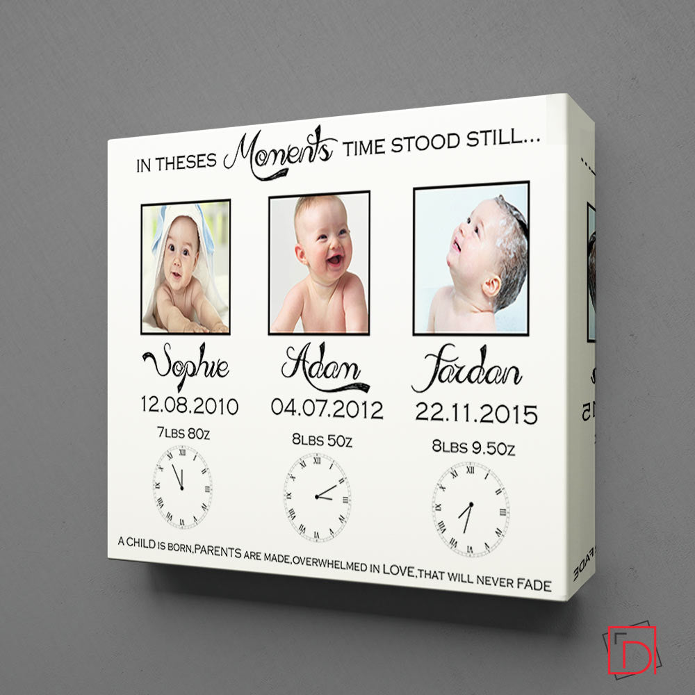 In These Moments Time Stood Still Square Wall Art - Do More With Your Pictures