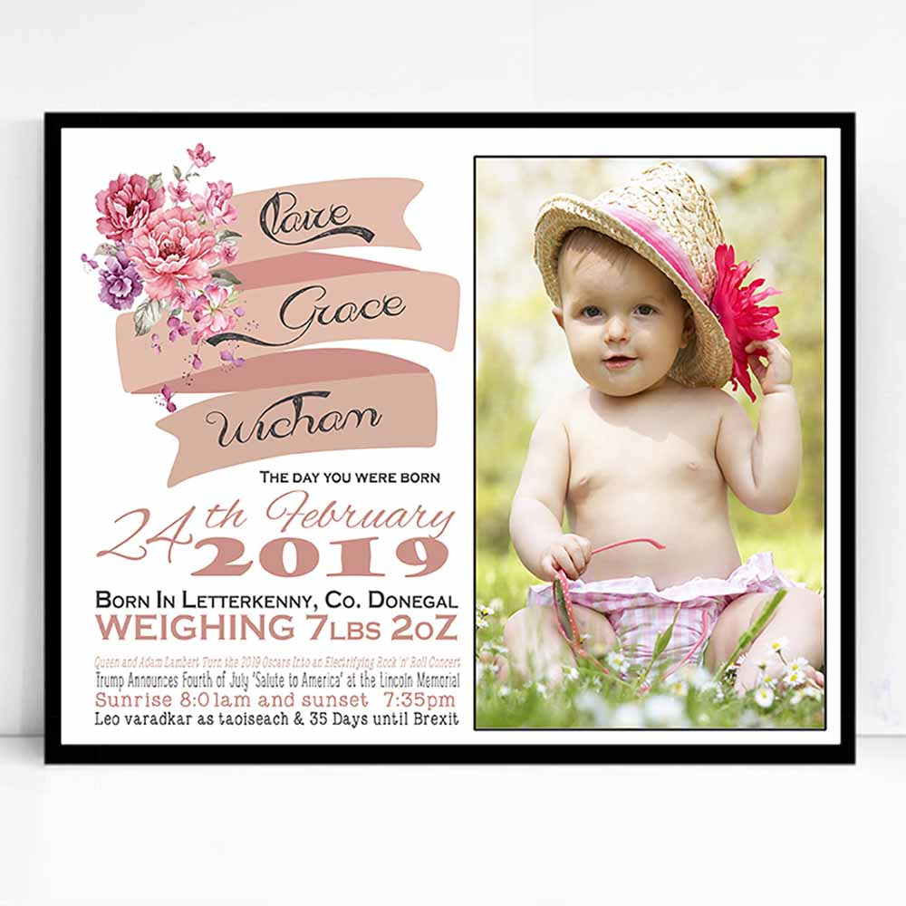 Our New Arrival Framed Photo collage
