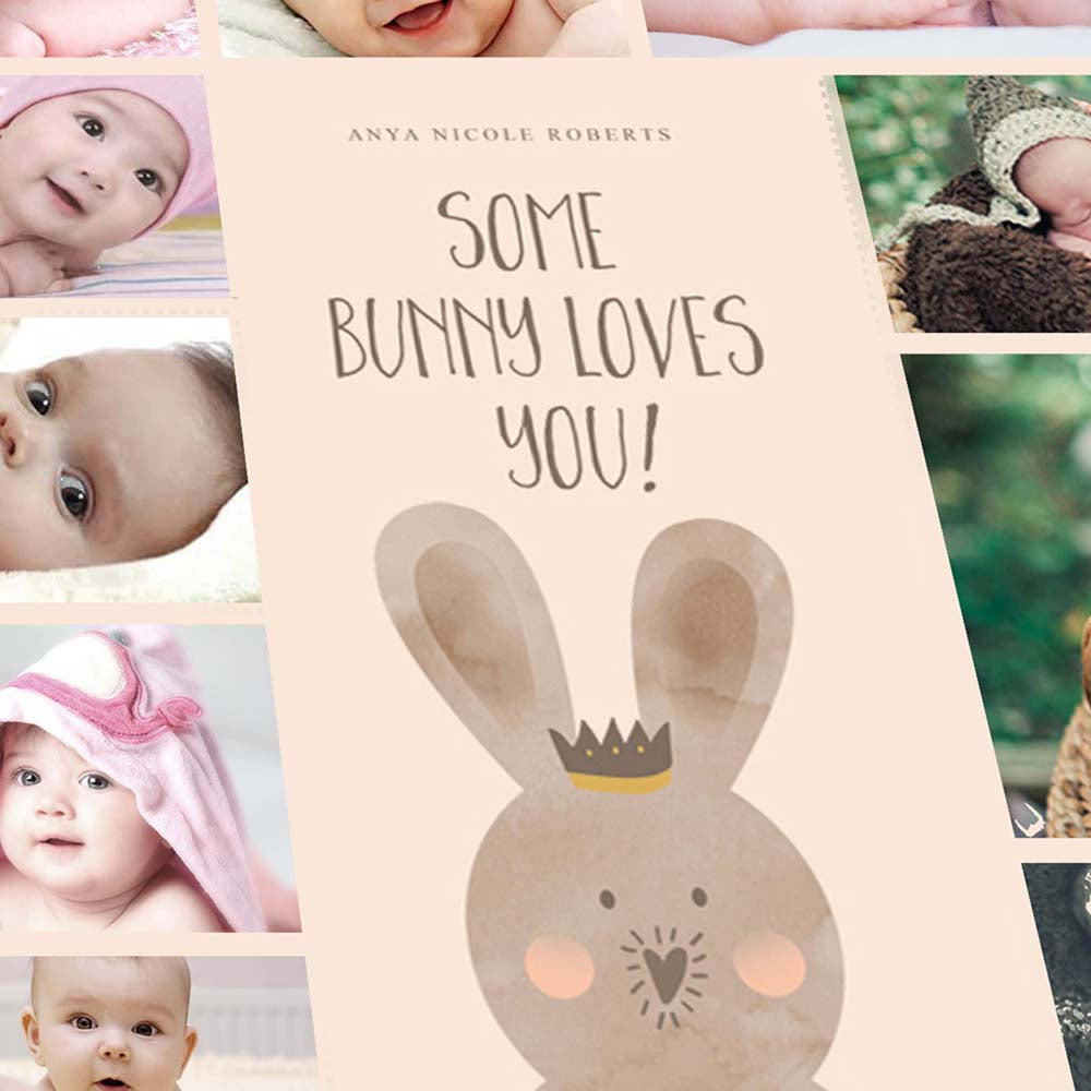 Some Bunny Loves You Collage On Canvas