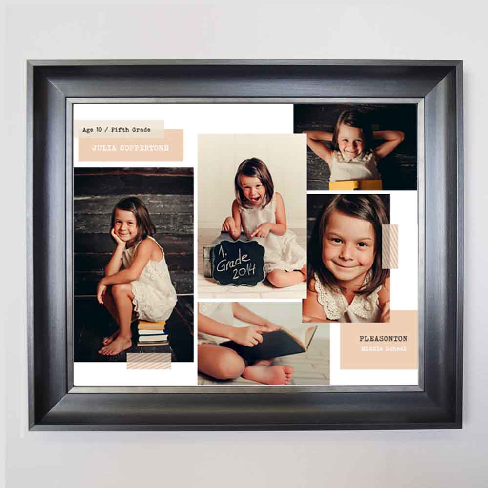 Beige My Life Framed Photo Collage