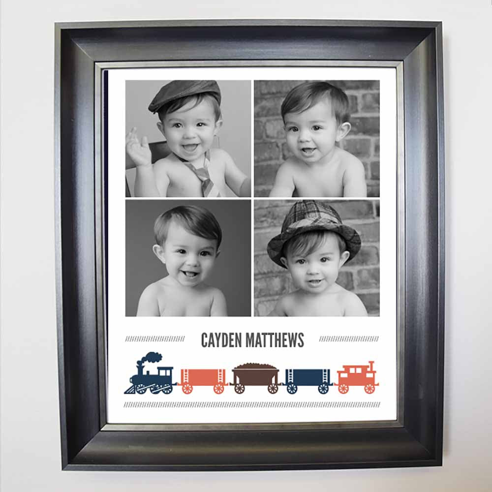 Choo Choo Train Framed Photo Collage - Do More With Your Pictures