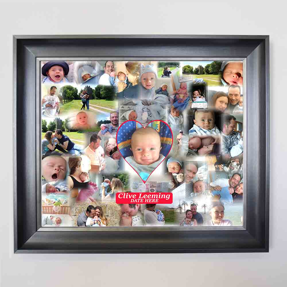 My First Year Bubble Framed Photo Collage