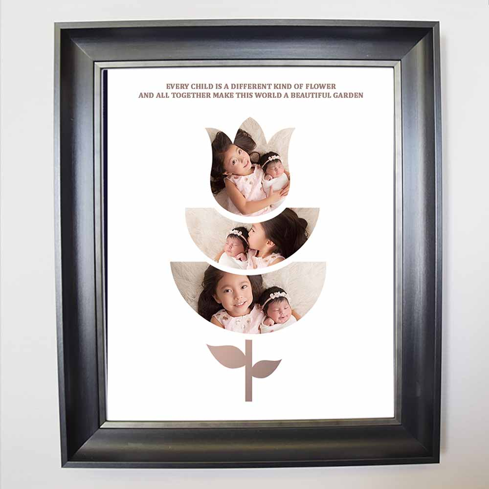 Children Bloom Together Framed Photo Collage - Do More With Your Pictures