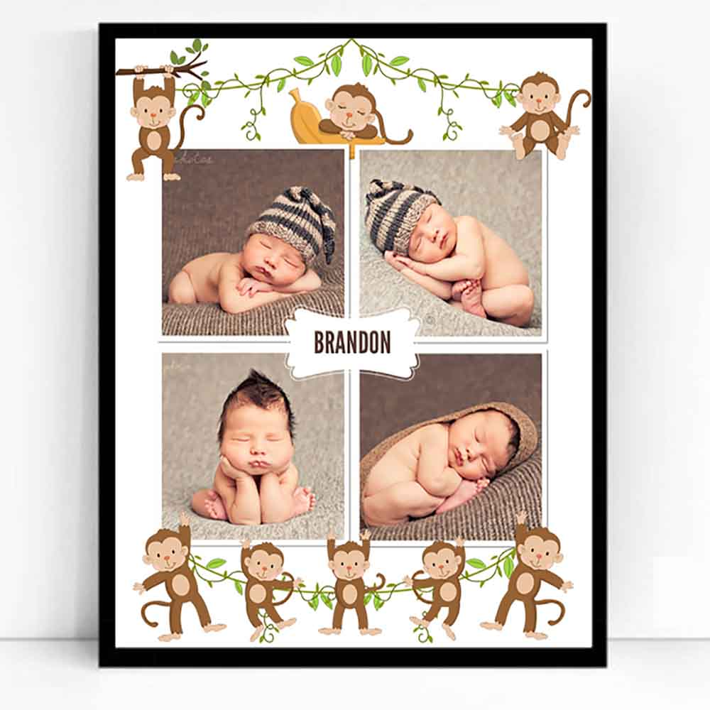 Our Little Monkey Framed Photo Collage