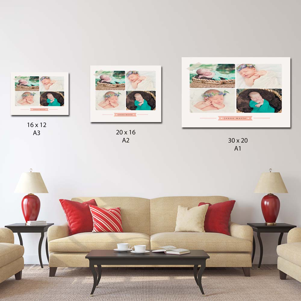 Birth Announcement Canvas Art