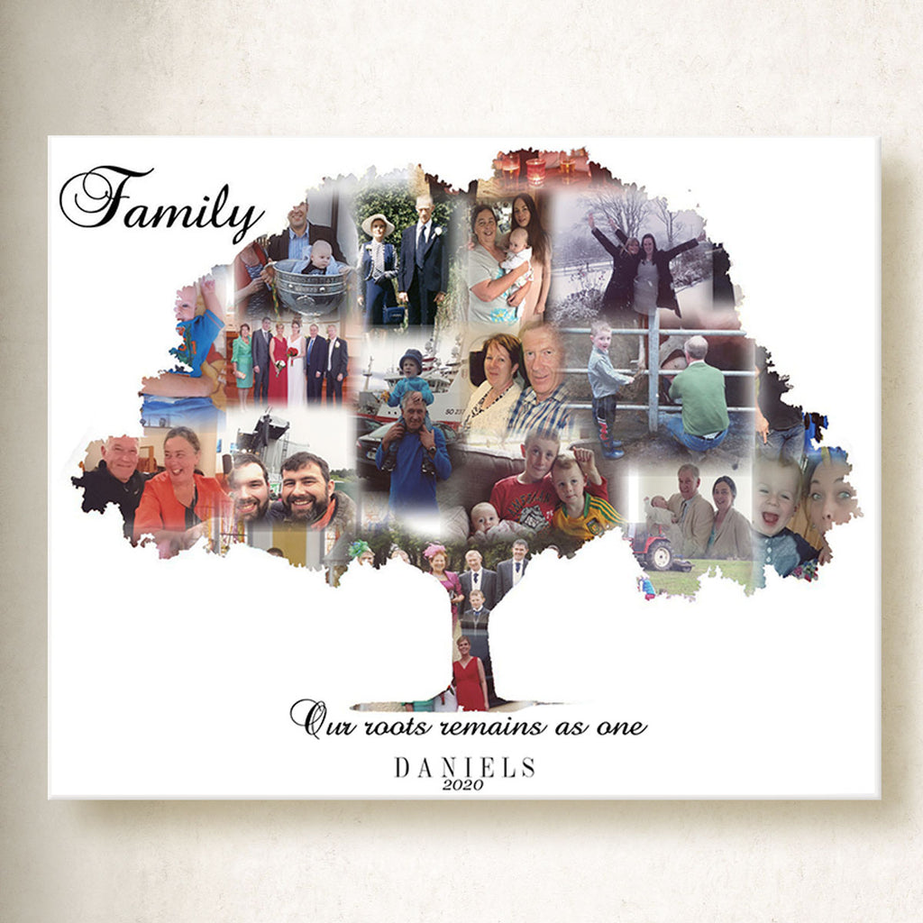 Family Tree On Canvas
