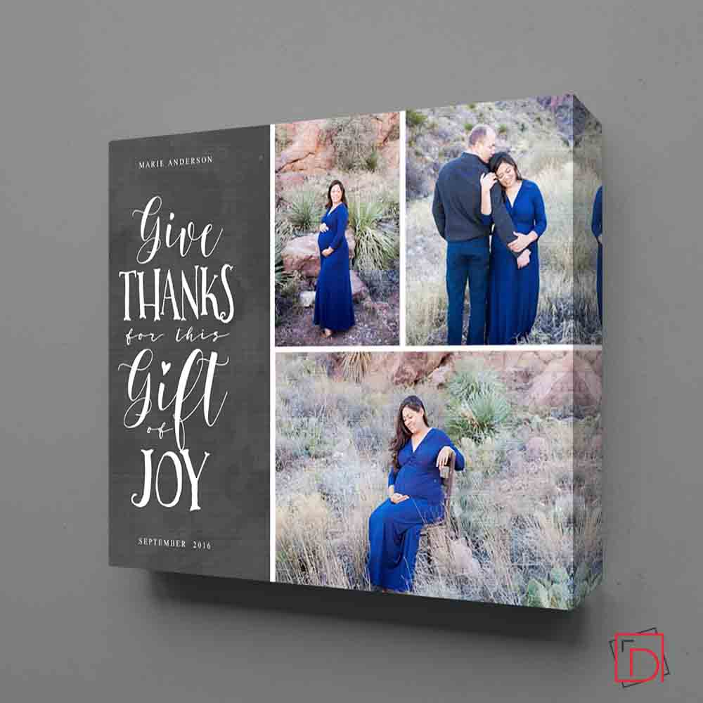 Give Thanks Framed Photo Collage