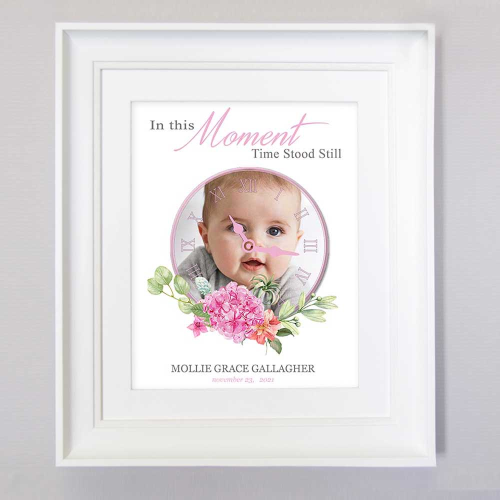 In This Moment Time Stood Still Rose Girl Wall Art - Do More With Your Pictures