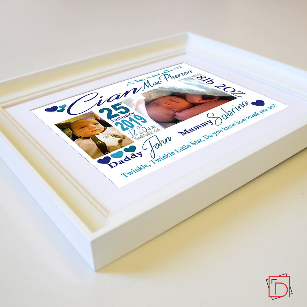 Welcome Home little One Sentiment Gift Frame