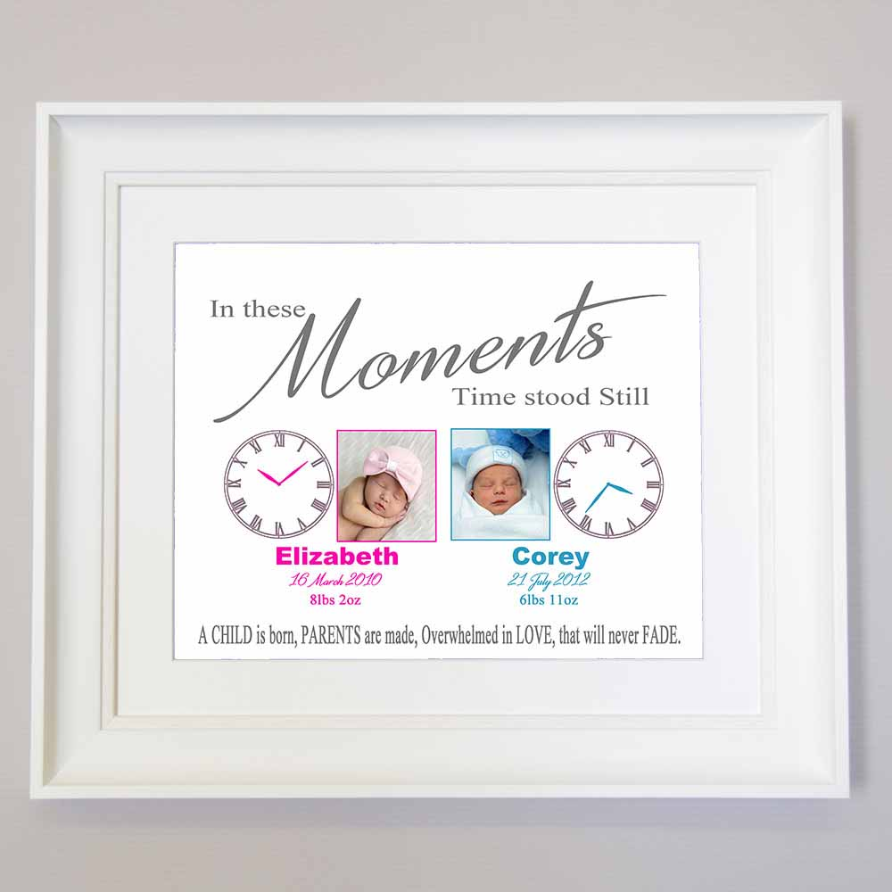 In These Moments Time Stood Still For Twins Wall Art - Do More With Your Pictures