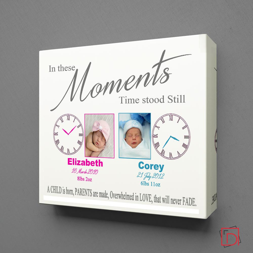 In These Moments Time Stood Still For Twins Wall Art