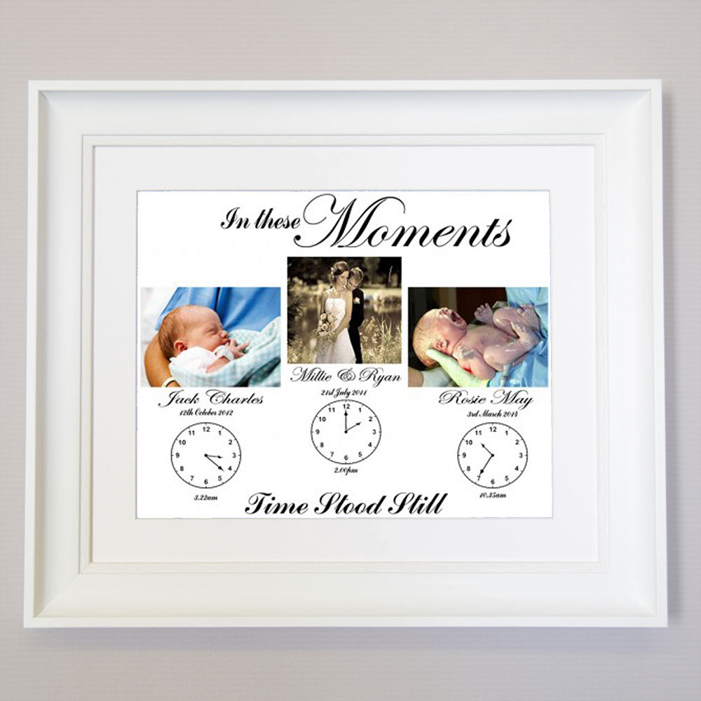In These Moments Time Stood Still Square Family Wall Art