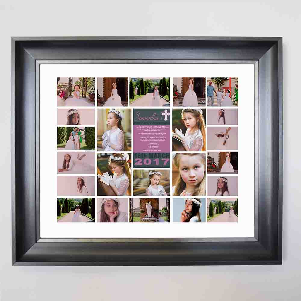 First Holy Communion Framed Photo Collage - Do More With Your Pictures