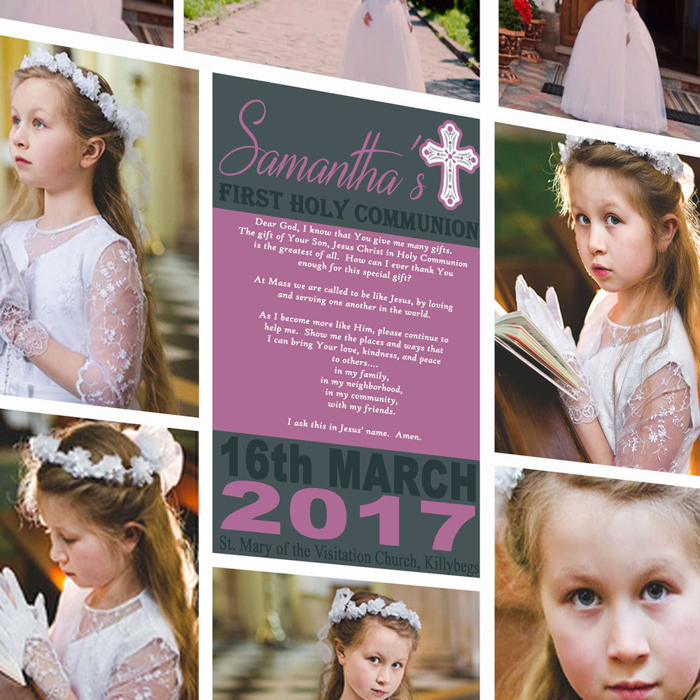 Little Prayer First Communion Photo Collage Wall Art