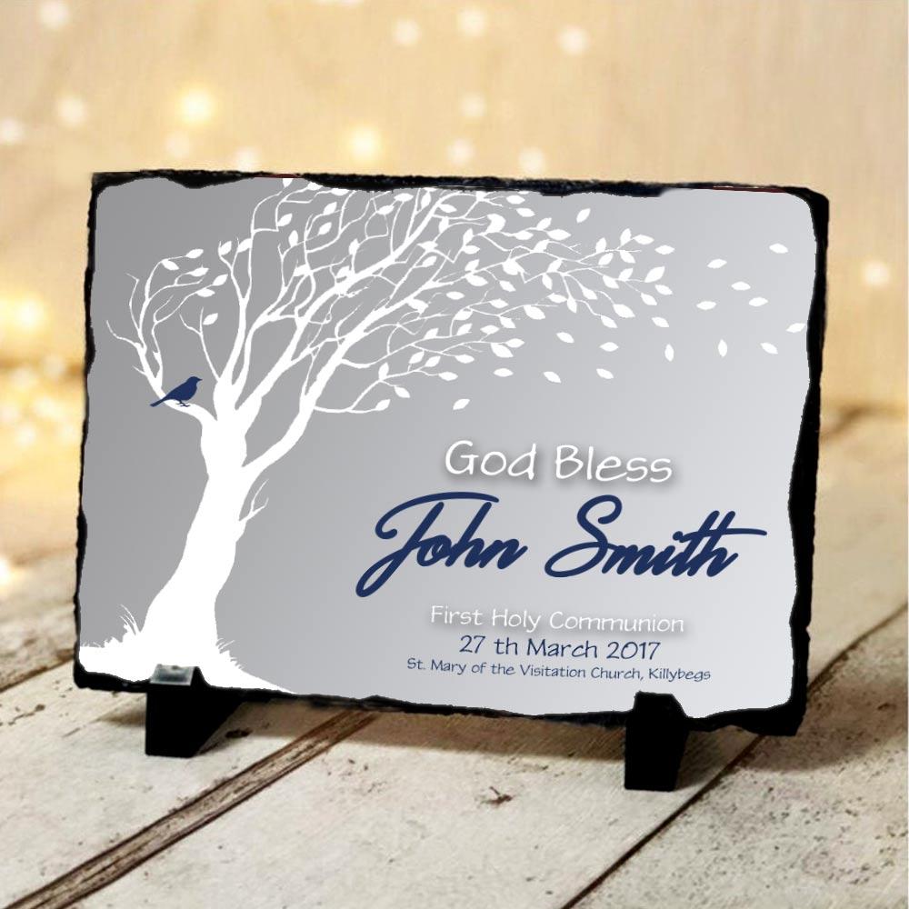 First Holy Communion Name Cloud Slate