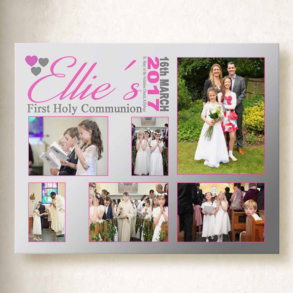 A Special Day 1st Communion Canvas Art collage
