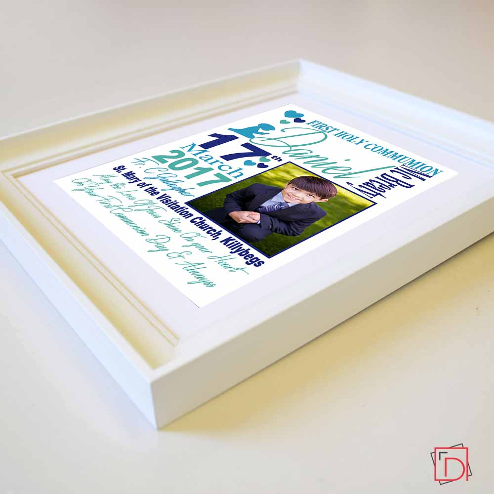 Personalised  May the Love Of Jesus Shine on Your Heart Picture Frame Sentiment Suit Product
