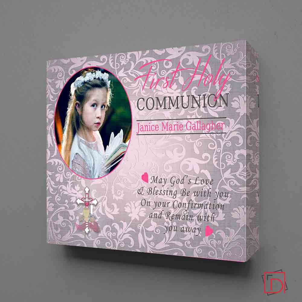 May God's Love & Blessing First Communion Wall Art