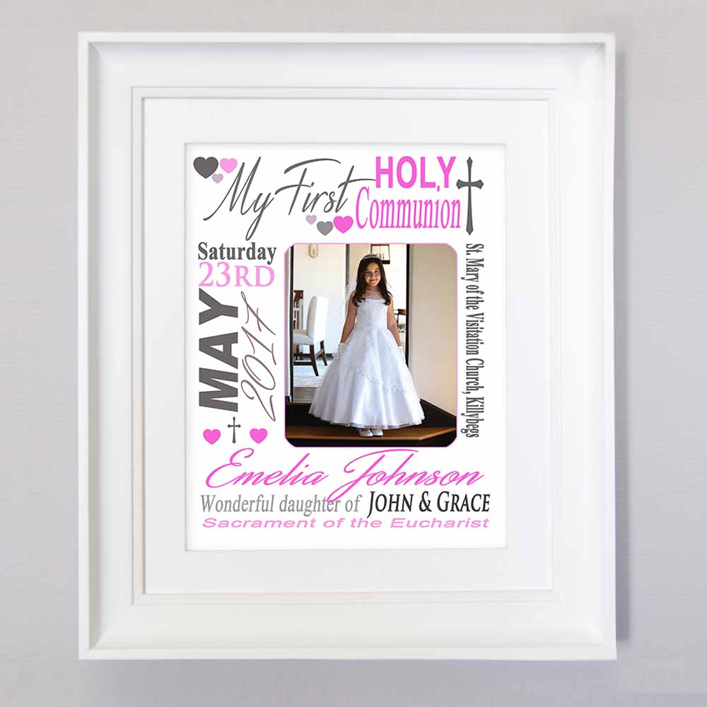 Personalised Girls First Holy Communion  Sentiment Suit Product