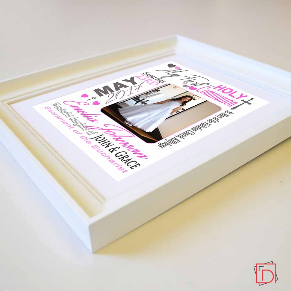 Dynamic First Holy Communion Sentiment Gift Frame - Do More With Your Pictures