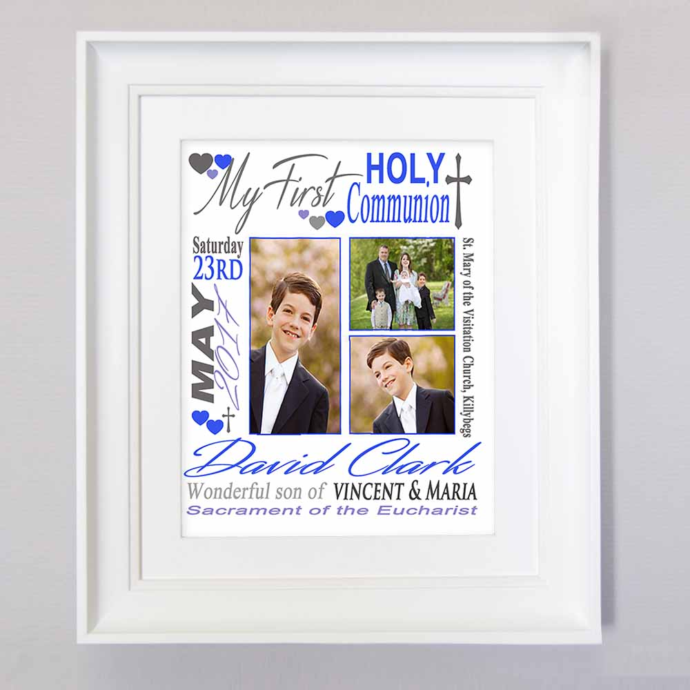 Dynamic Trio First Holy Communion Sentiment Gift Frame - Do More With Your Pictures