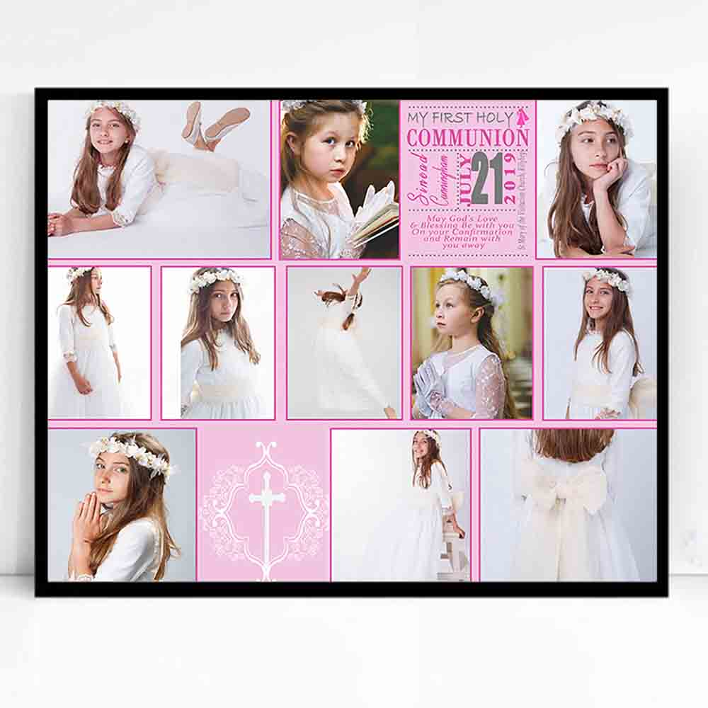 Gods Blessing 1st Holy Communion Framed Photo Collage - Do More With Your Pictures