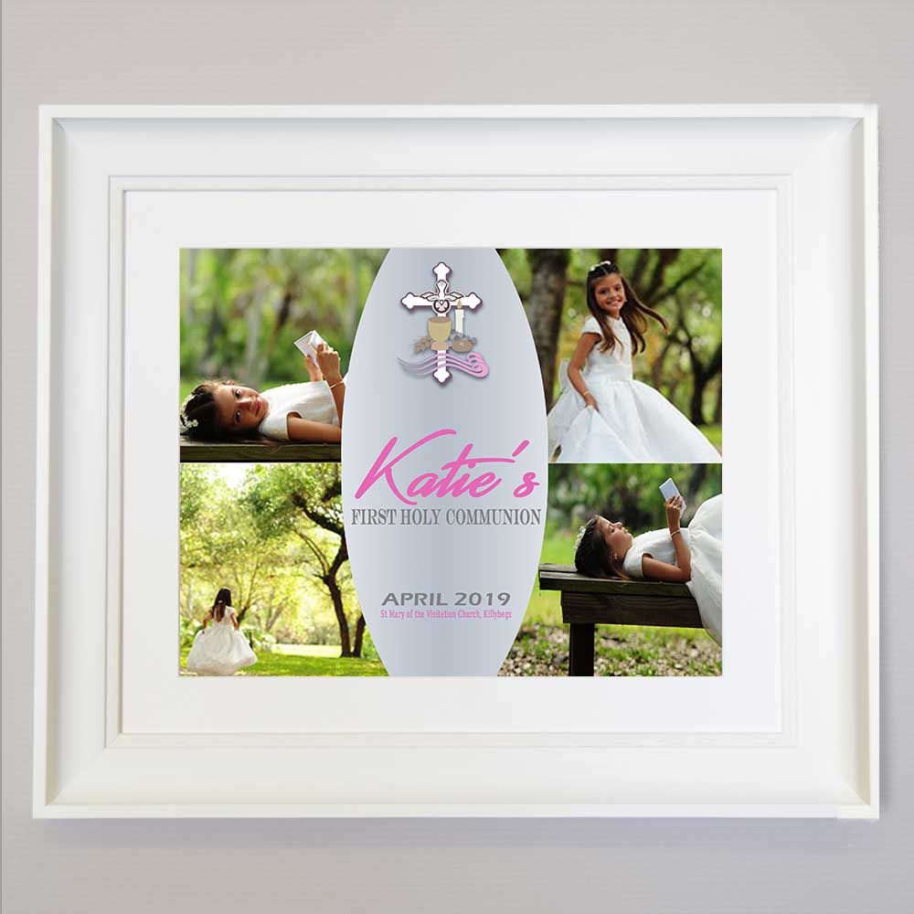 Loved Today First Communion Photo Collage Wall Art