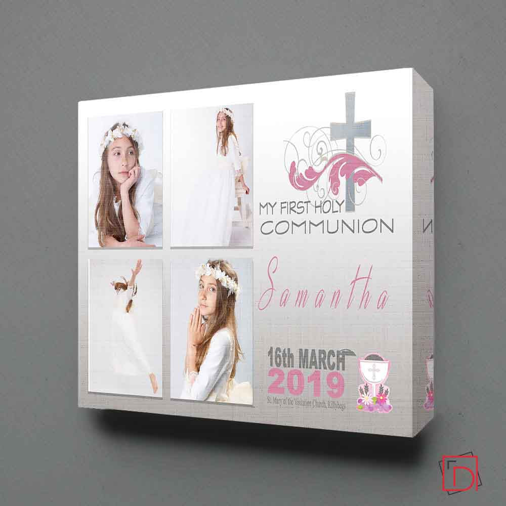 Holy Cross First Communion Photo Collage Wall Art - Do More With Your Pictures