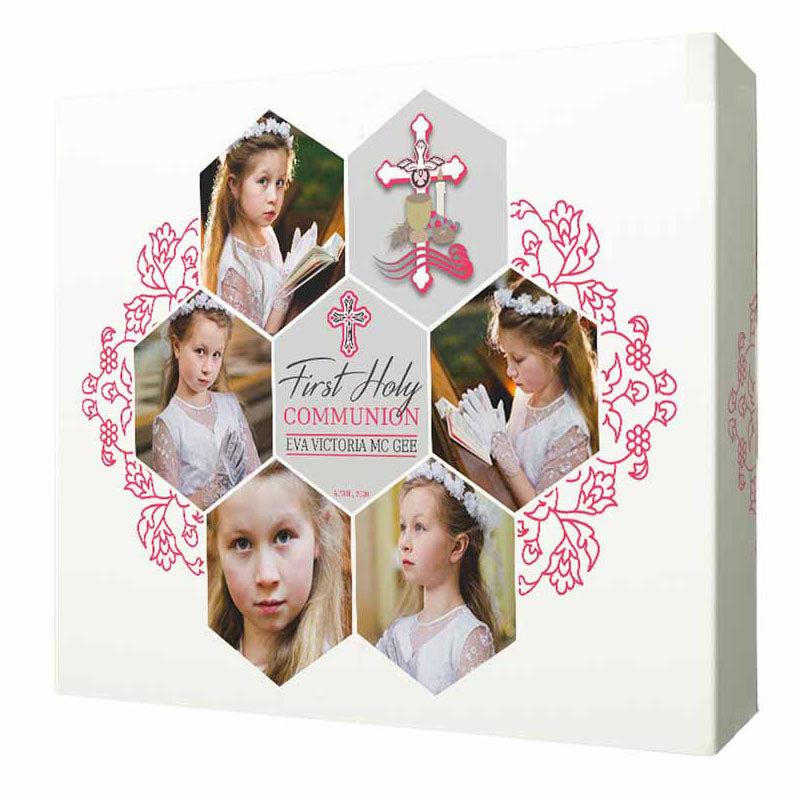 Honeycomb First Communion Framed Photo collage - Do More With Your Pictures
