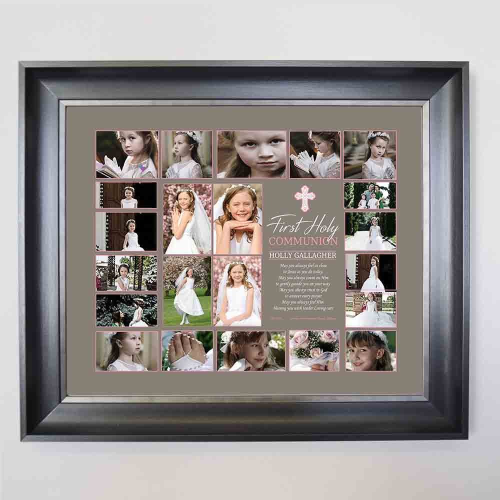 First Communion Blessing Framed Photo Collage - Do More With Your Pictures