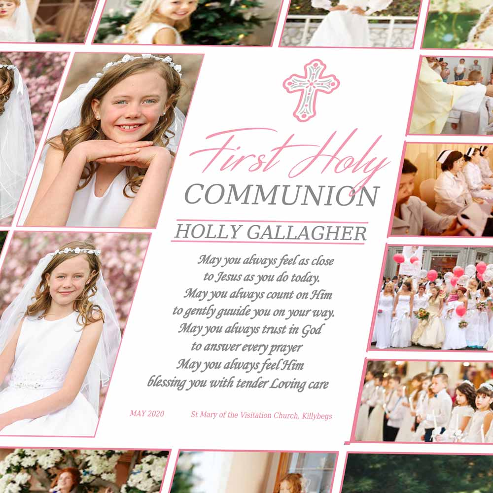 First Holy Communion On Canvas