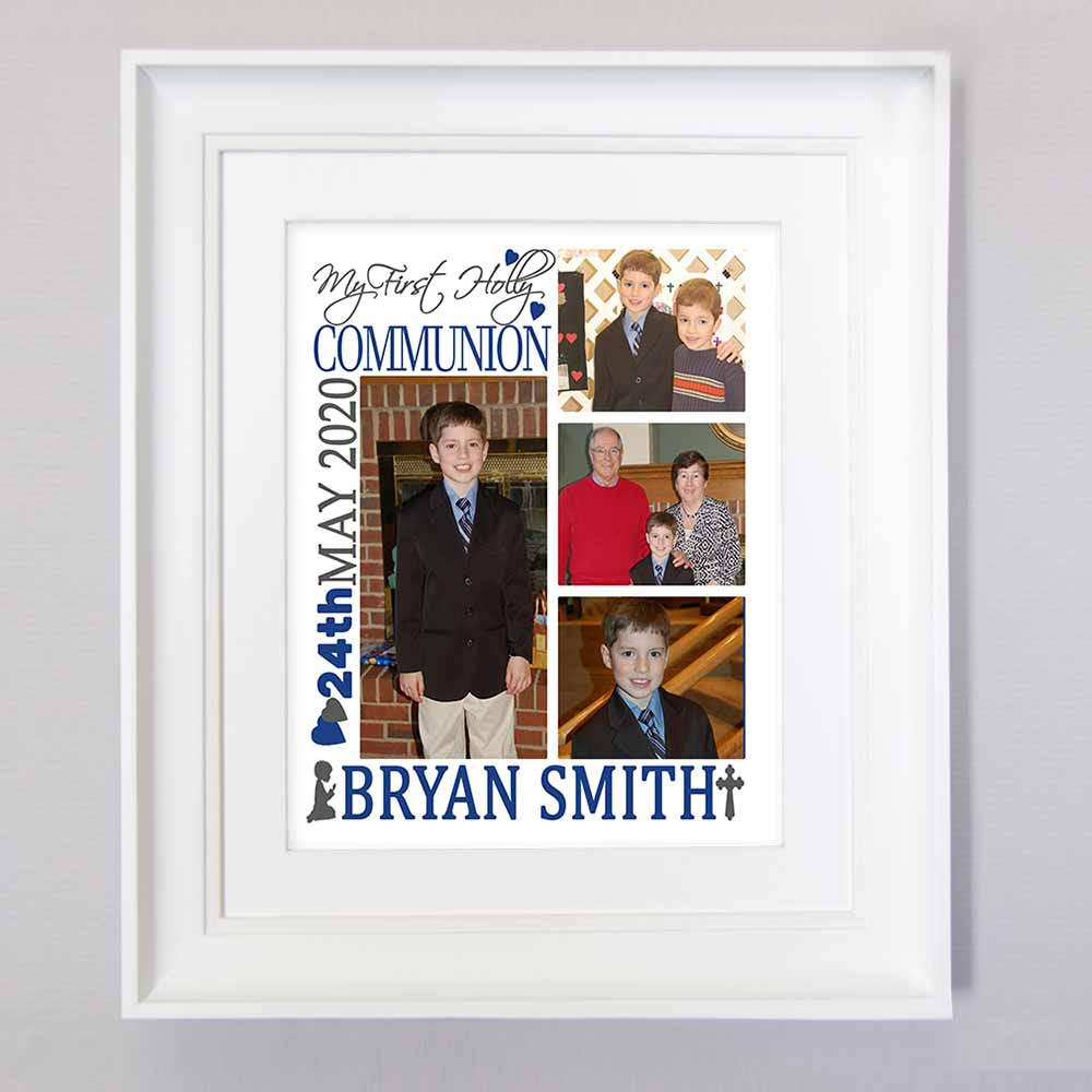 Its My Holy Communion Sentiment Gift Frame - Do More With Your Pictures