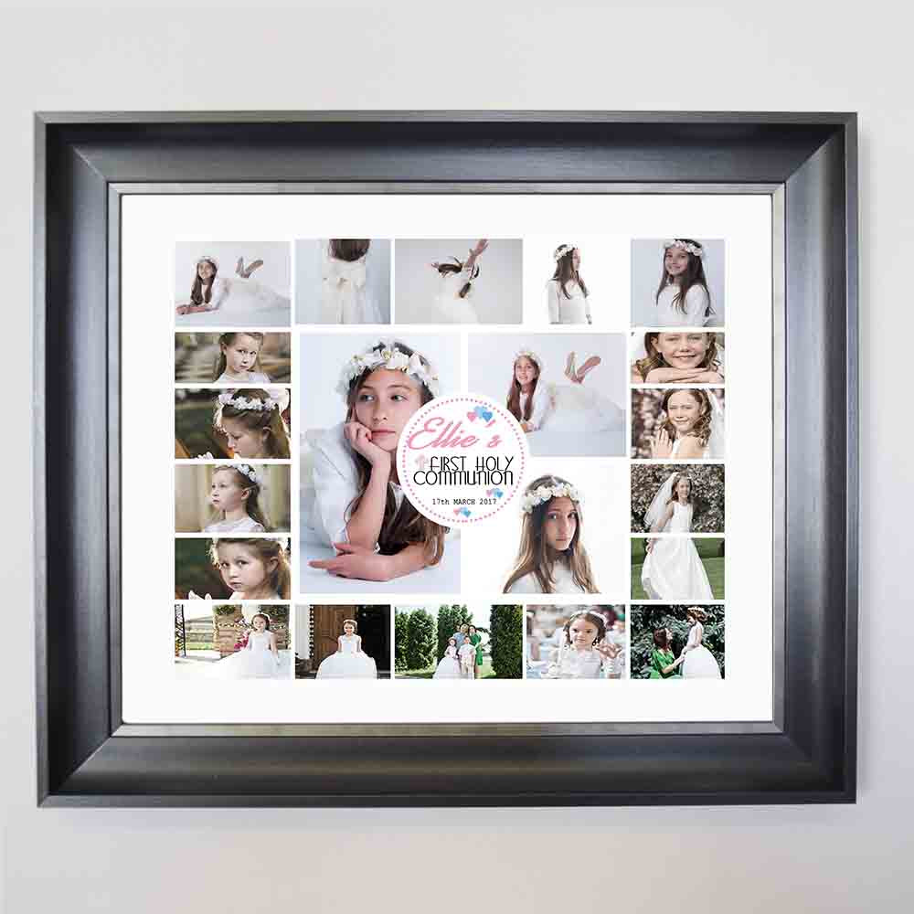 White Smoke Meant To Be First Holy Communion Framed Photo Collage