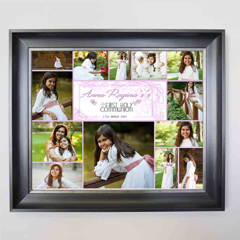 Laced Alexa First Holy Communion Framed Photo Collage