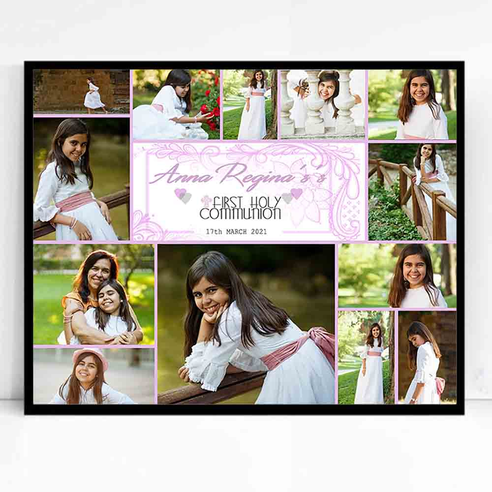 Laced Alexa First Holy Communion Framed Photo Collage - Do More With Your Pictures